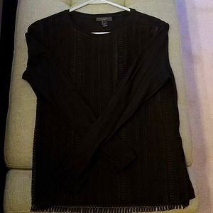 J Crew meshy black sweater